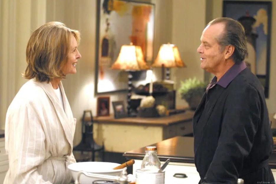 Something's Gotta Give movie kitchen Diane Keaton Jack Nicholson bathrobe scene