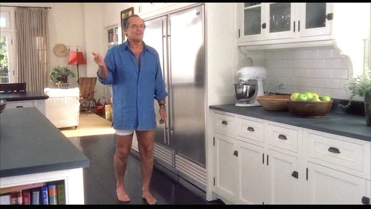Something's Gotta Give movie set kitchen Jack Nicholson boxer briefs