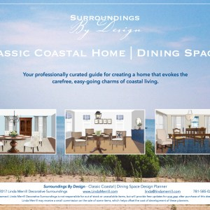 Classic Coastal Dining room planner beach design