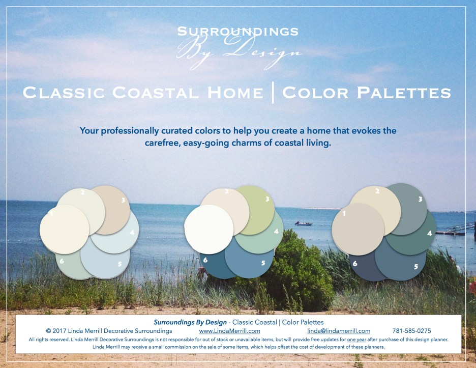 Coastal beach  theme color palettes shop surroundings