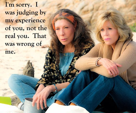 Grace & Frankie Friendship on the beach