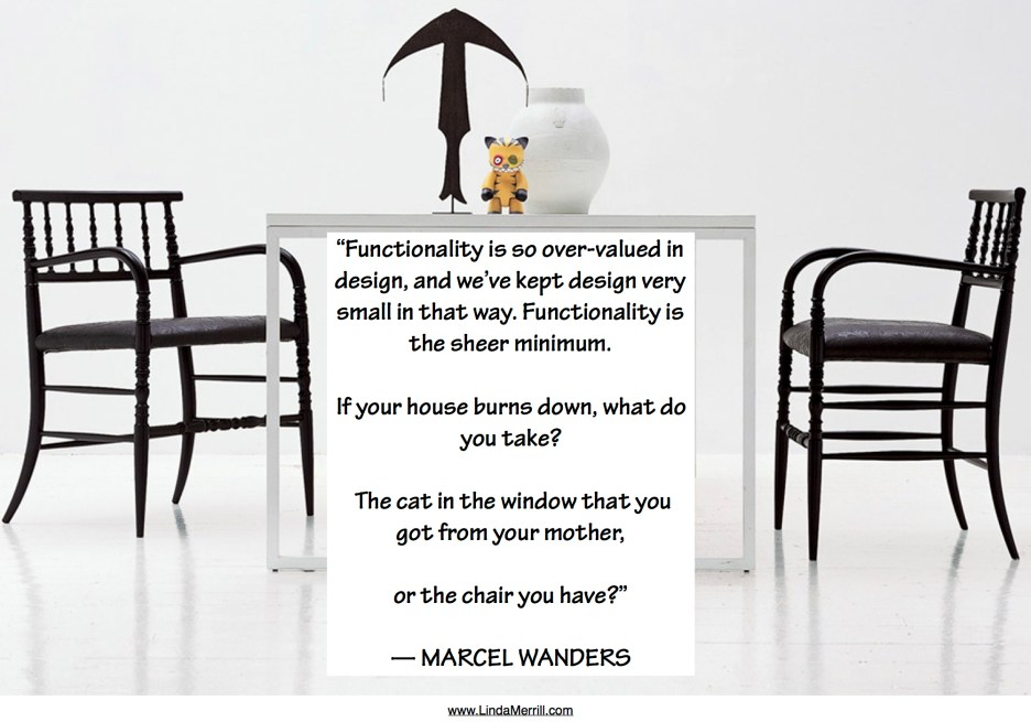 Form vs. Function Marcel Wanders quote on design New Antiques Black chair