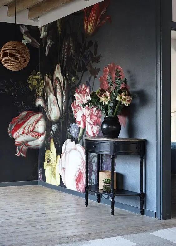 Floral Wall mural Dutch master BALTHASAR VAN DER AST surface view