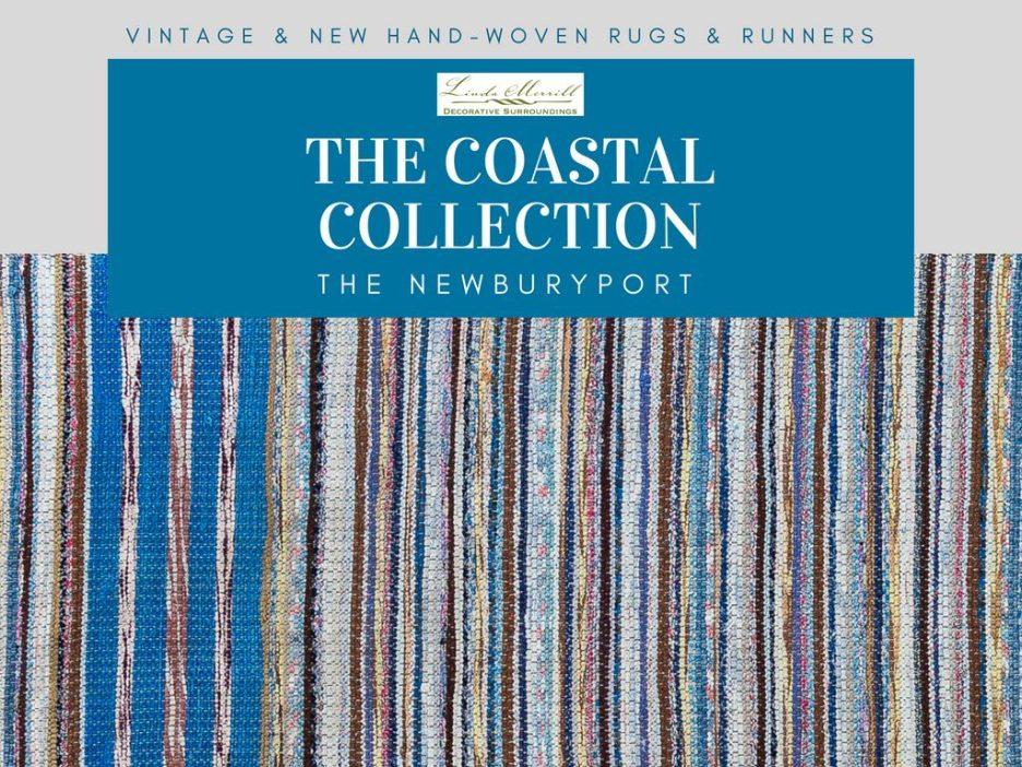 Newburyport Rug The Coastal Collection blue yellow white pink runner