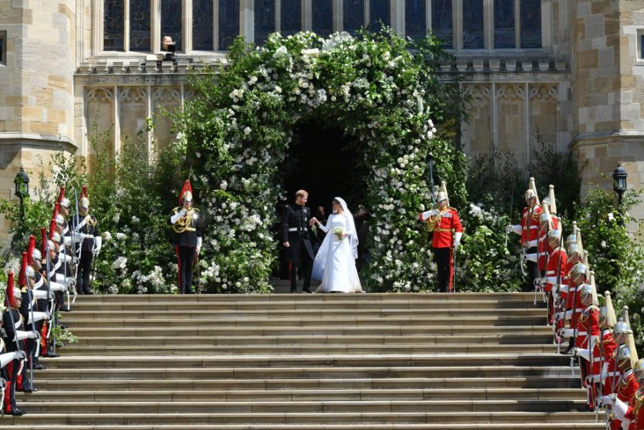 Royal wedding flowers St George's Cathedral