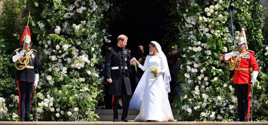 2 Meghan and Harry royal wedding reception flowers