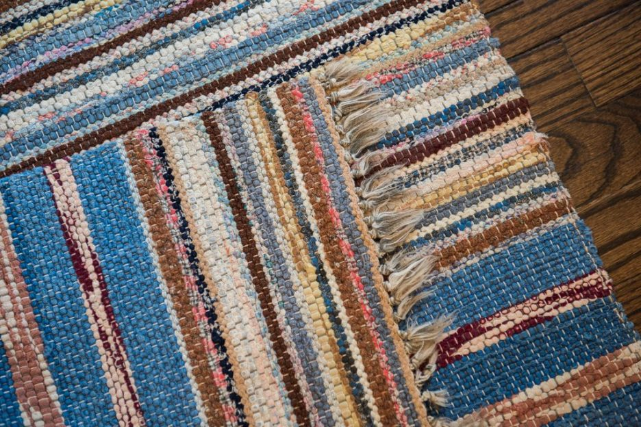Newburyport Rug The Coastal Collection blue yellow white pink runner