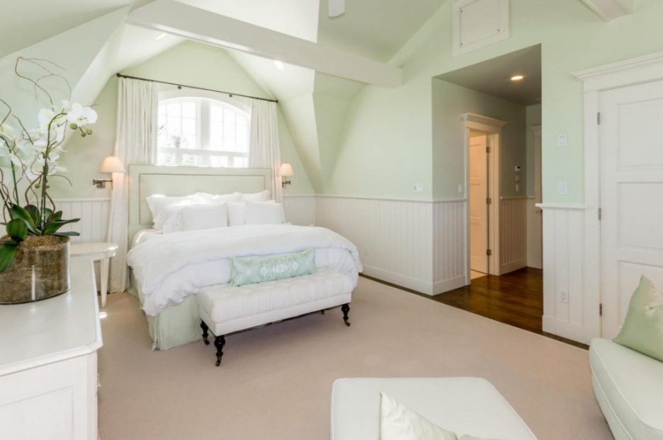 Bedroom White black wrought iron 3 Dunes Road MA Sandpiper Realty Edgartown property