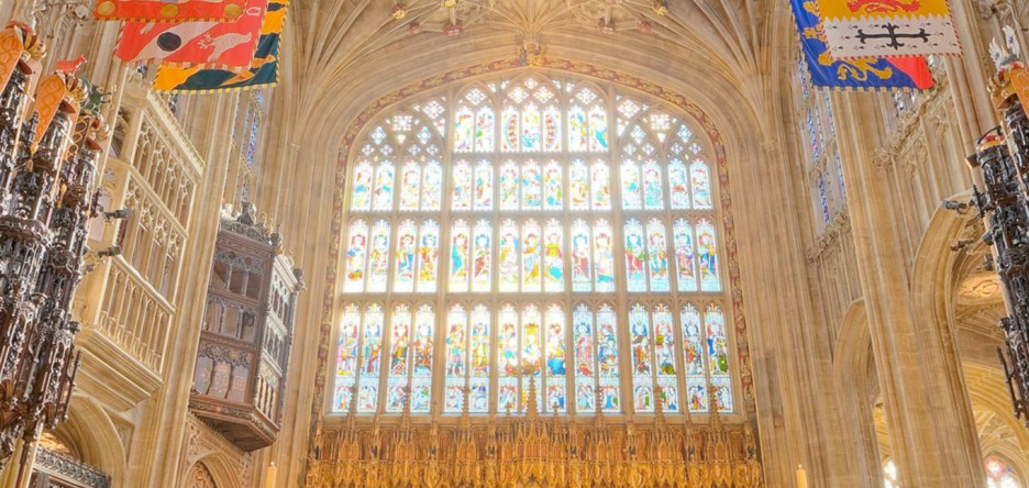 Harry and Meghan Royal Wedding St. George's quire Alter stained glass