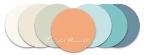 Linda Merrill Color set white gray peach blue