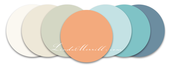 Linda Merrill Color set white gray peach blue