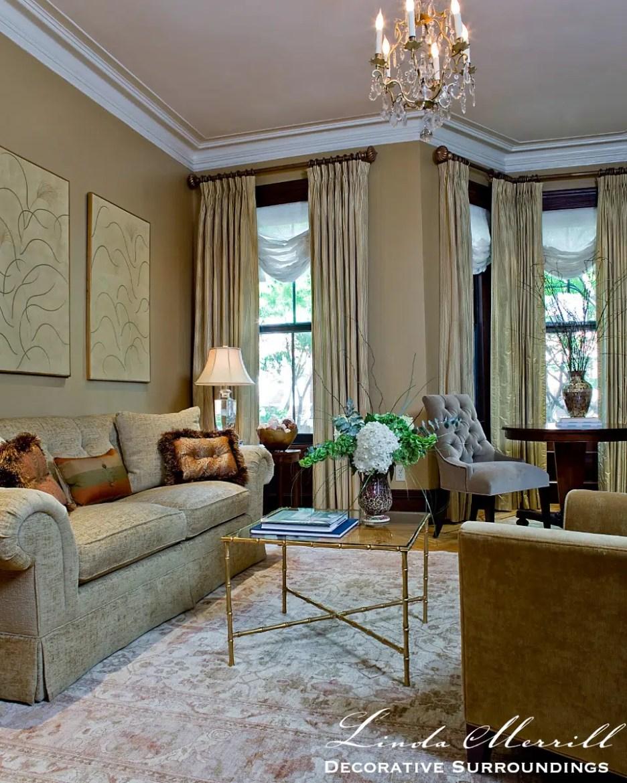 Linda Merrill Interior design Boston townhouse living room Michael J Lee photography drapery watermarked