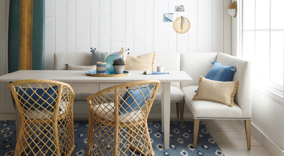 Serena and Lily dining banquettes settees