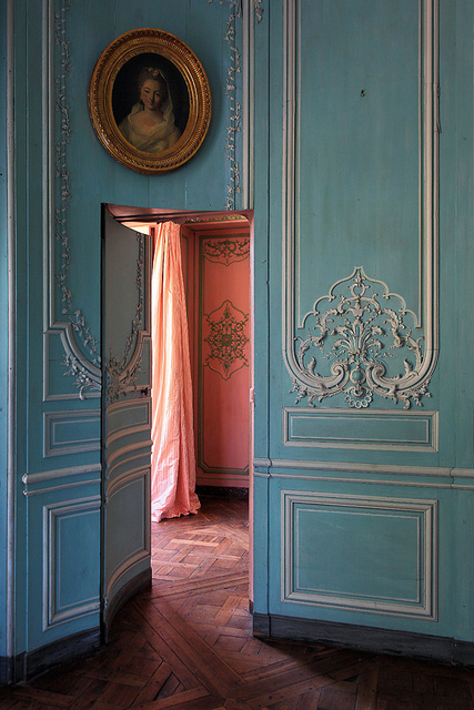 Versailles French Blue peach jib door