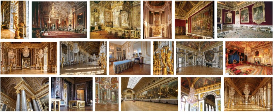Versailles palace interiors Met Gala
