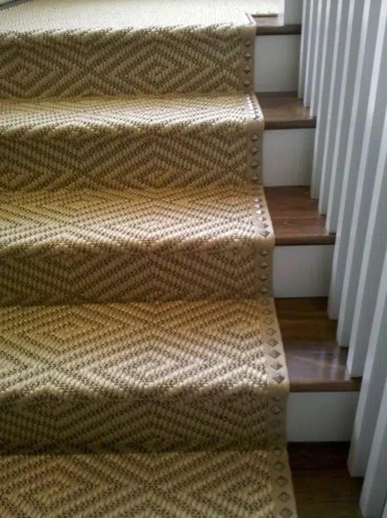 Diamond Sisal on Stairs