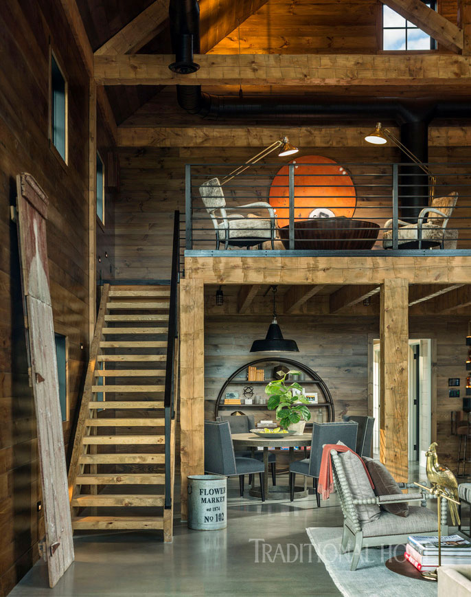 Vermont Farmhouse Fantasy Lillian August Traditional Home Barn details