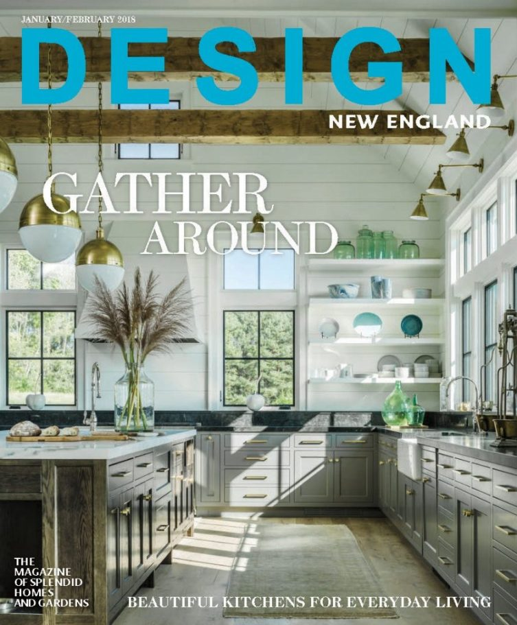 Design New England Vermont Farmhouse Jim Westphalen photograph Farmhouse fantasy Cover Jan Feb 2018