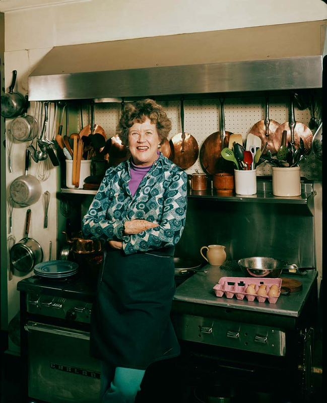 Julia Child in her kitchen body type