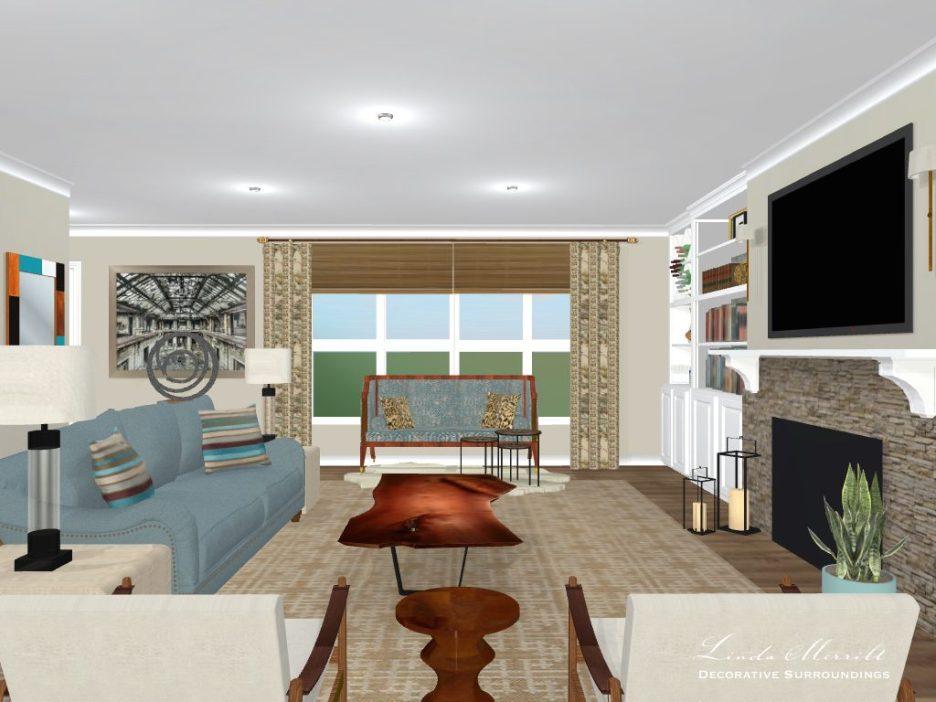 Linda Merrill Design Washington open floor plan project 2