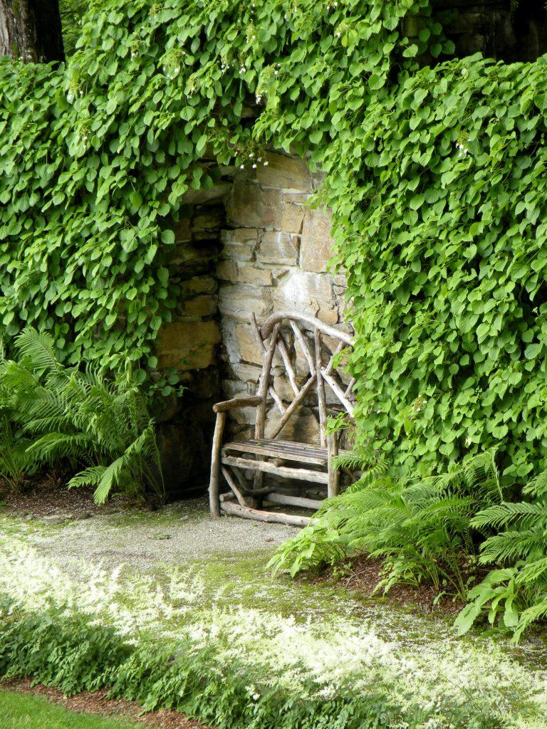 Linda Merrill photography Edith Wharton The Mount Massachusetts Secret Garden hidden bench