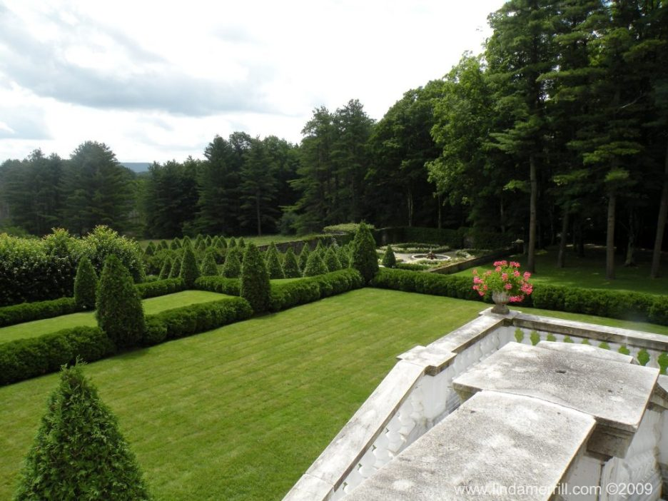 Linda Merrill photography Edith Wharton The Mount Massachusetts Secret Garden view from house