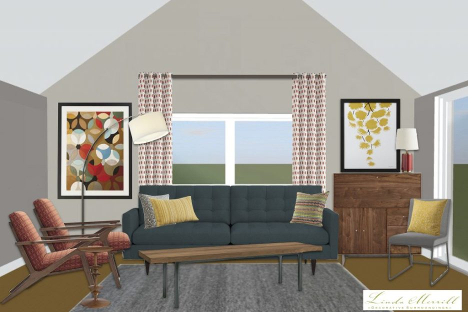 Linda Merrill window treatment height high vaulted ceiling drapery