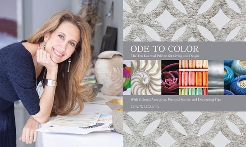 Lori Weitzner Ode To Color book jacket and photo color personality