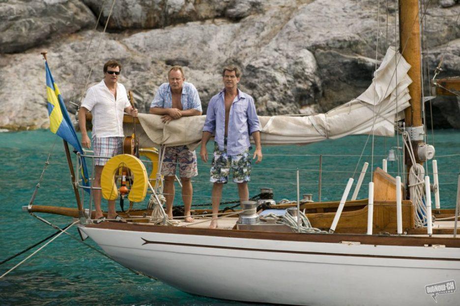 Mamma Mia Colin Firth Stellan Skarsgard Pierce Brosnan on yacht