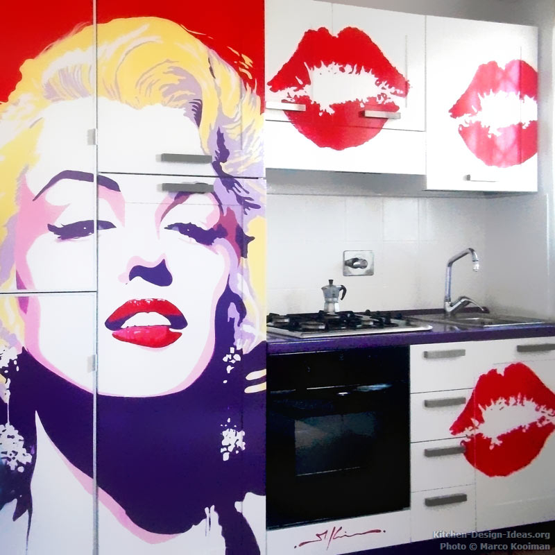 Marco Kooiman kitchen Marilyn Monroe famous faces