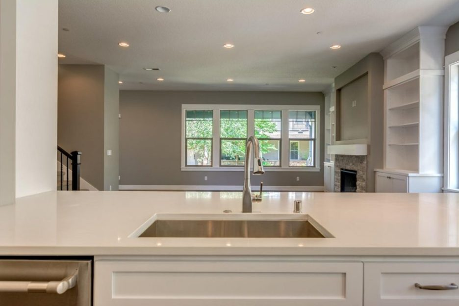 Open floor plan washington project kitchen view