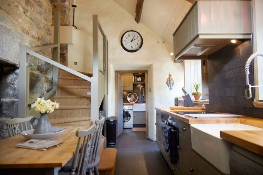 Tudor stone bastle Northumberland England Photo by David Webb Kitchen Stone cottage