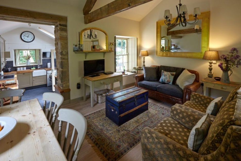Joiner's Shop The Bastle stone cottage Photography David Webb living room