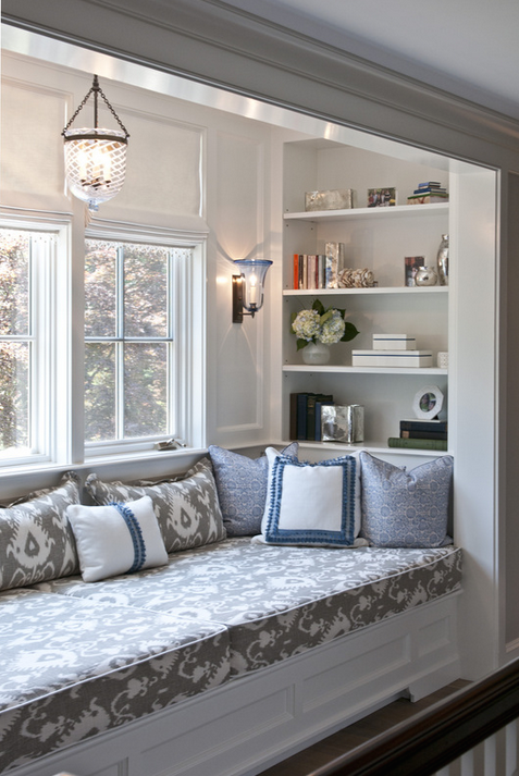 Julie Nightingale Design reading-nook-built-in nooks and snugs