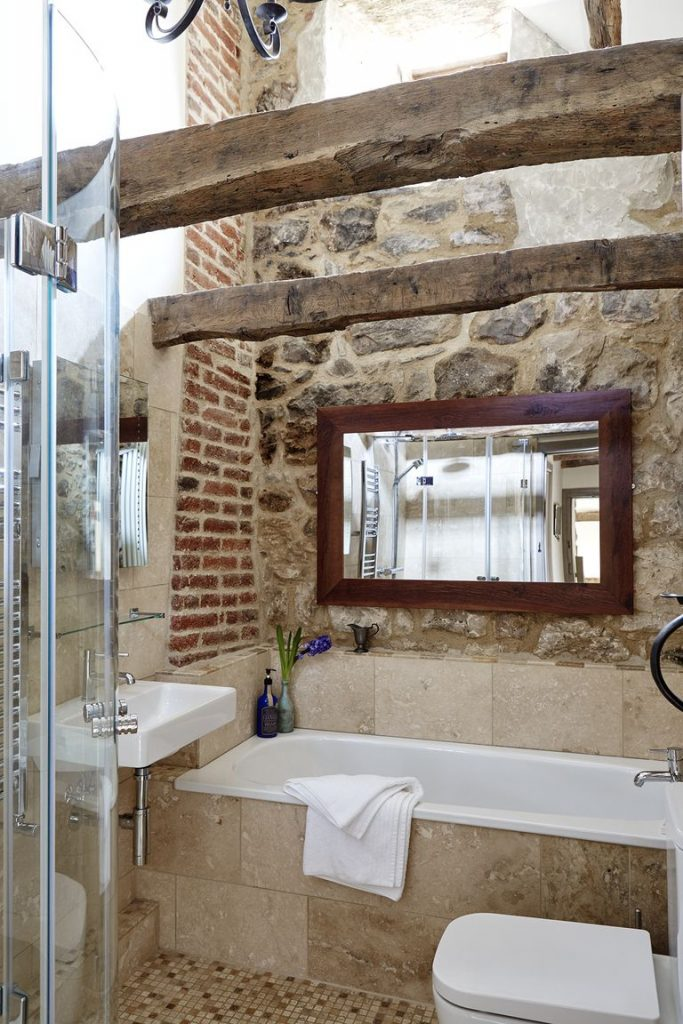 Tudor stone cottage bastle photography Brent Darby bathroom charming stone cottage