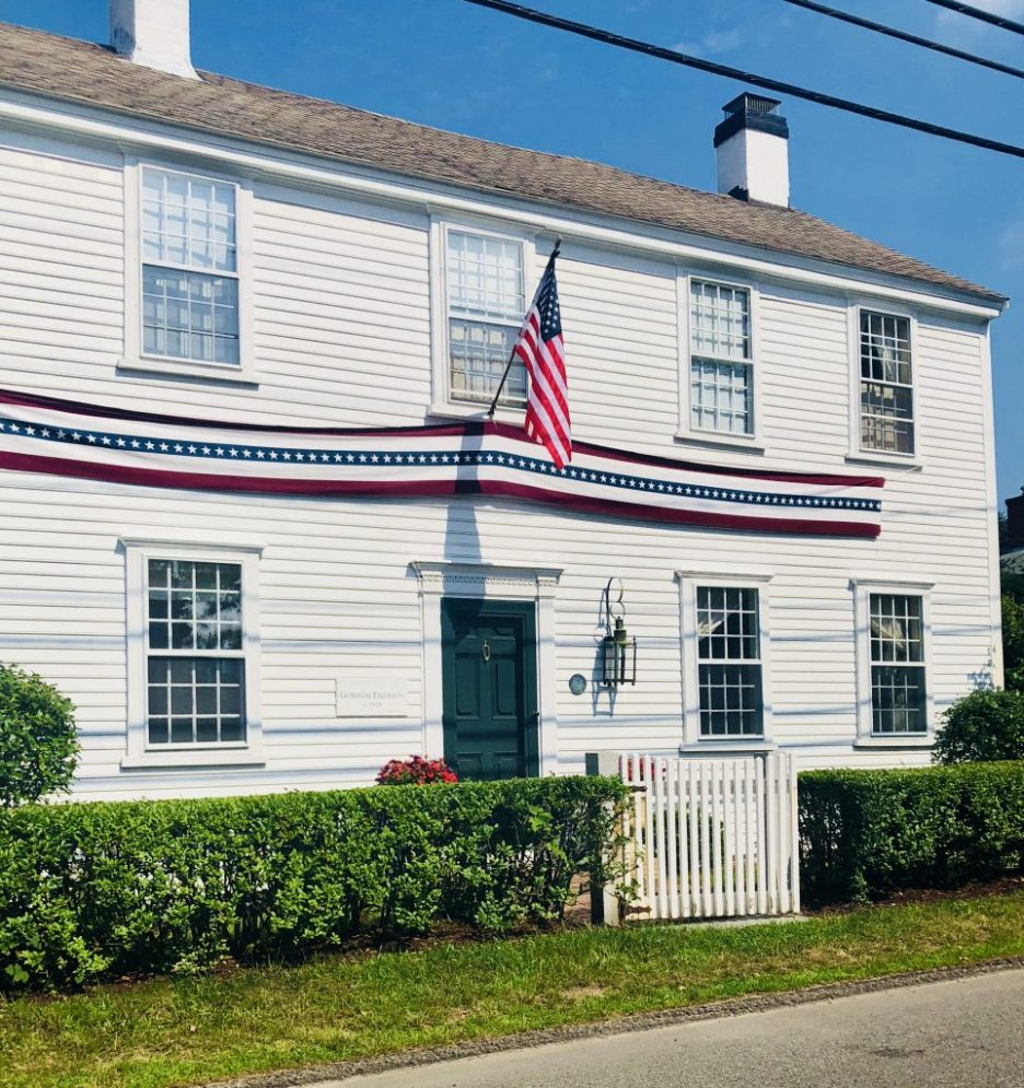White House July 4th Independence Day Duxbury MA Antique white house