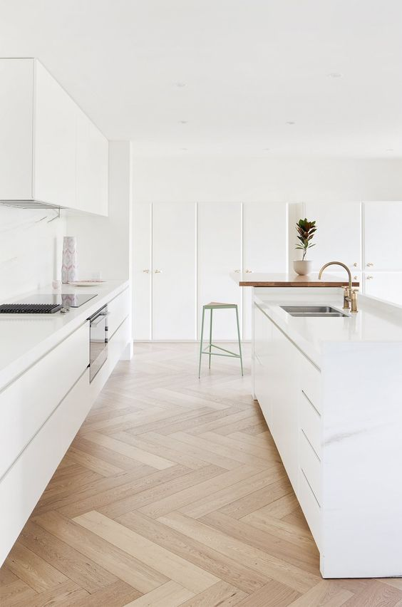Hecker Guthrie design Australia clean white rustic kitchen