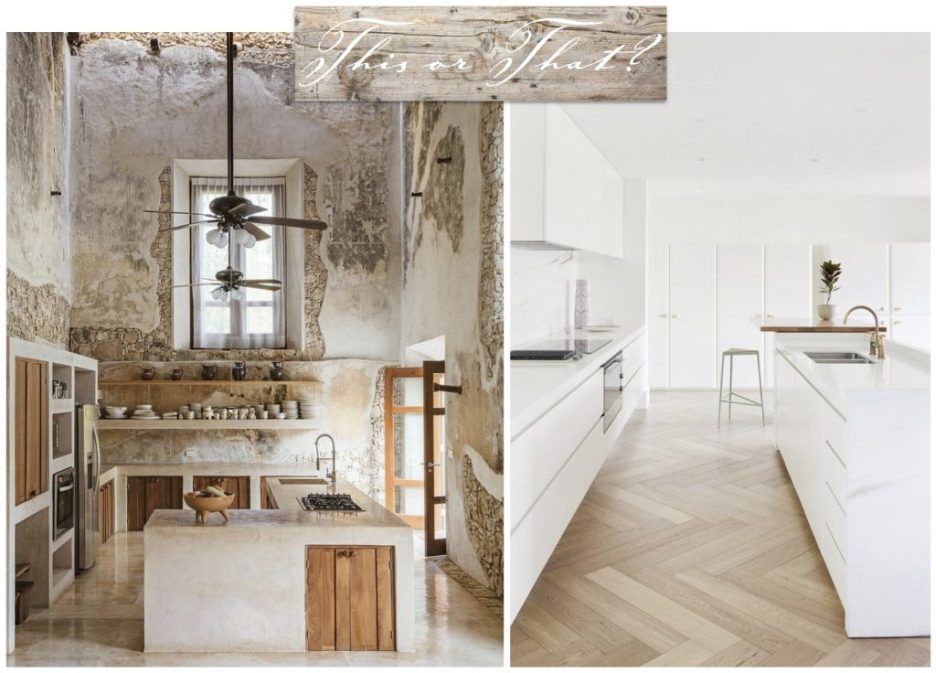 This Or that rustic or modern kitchen