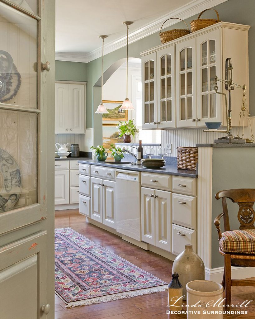 Linda Merrill design kitchen built-ins cabinet
