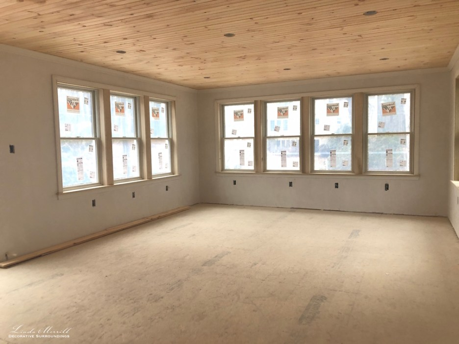 Linda Merrill interior design renderings sunroom family room project building in process 3