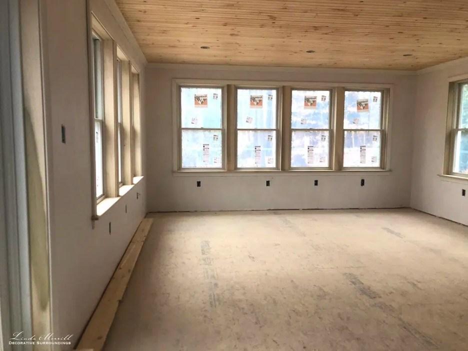 Linda Merrill interior design renderings sunroom family room project building in process 5