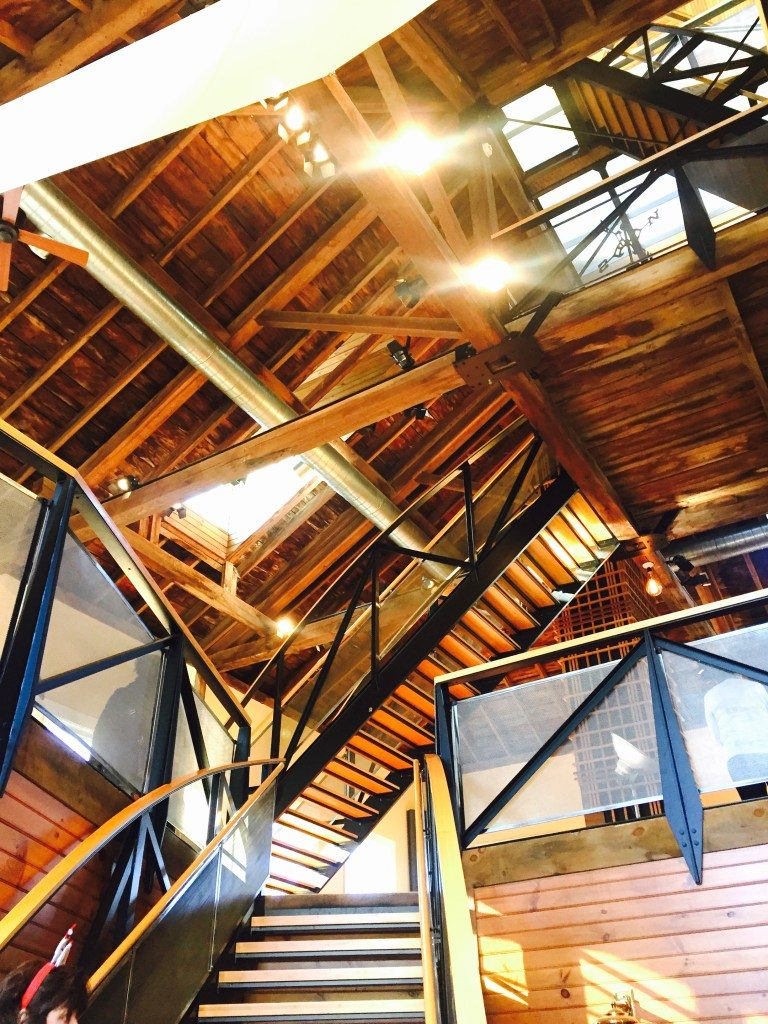 Newburyport modern carriage house conversion Andrew Sidford architect Linda Merrill photo entry looking up