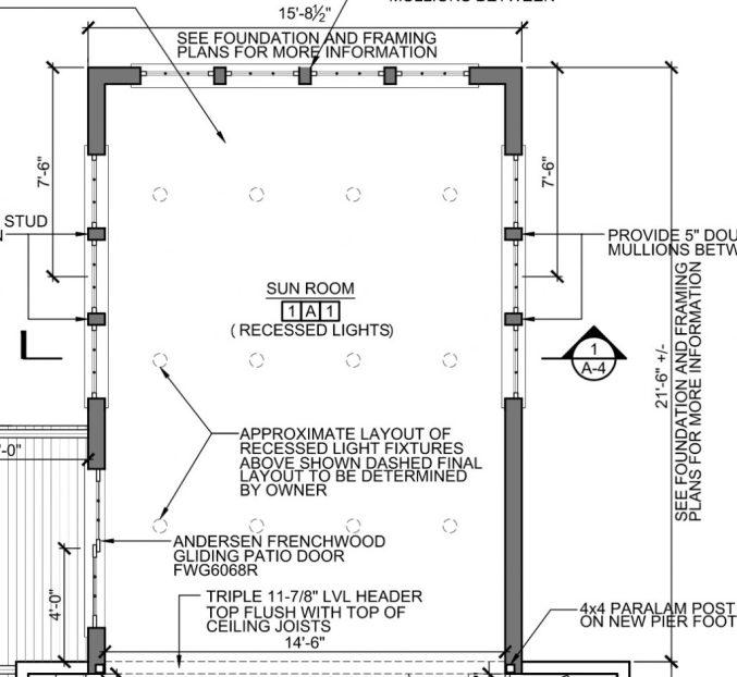 Sunroom family room architects plans interior design renderings