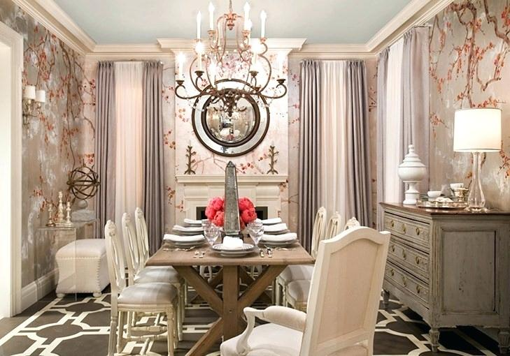 Formal apartment small dining room wall paper