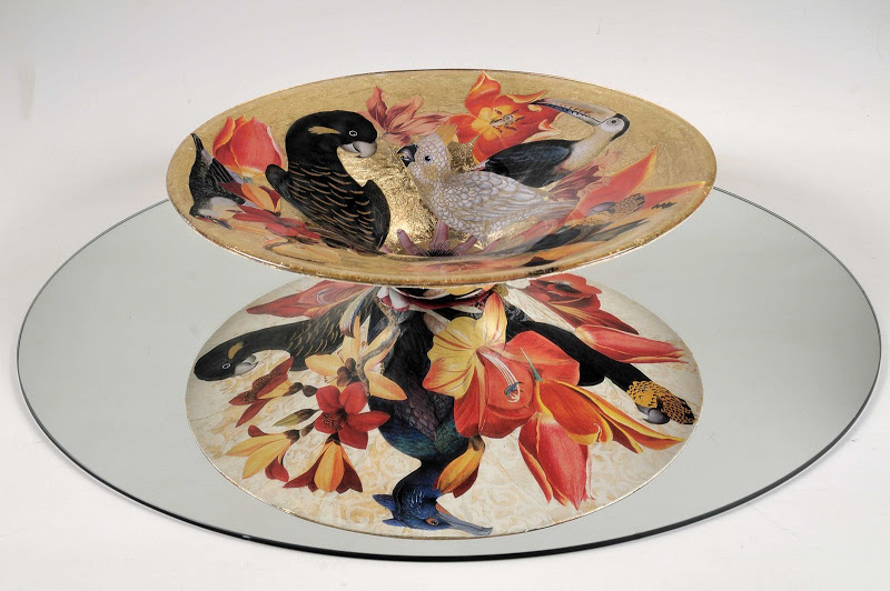 Jill Barnes-Dacey decoupage birds bowl