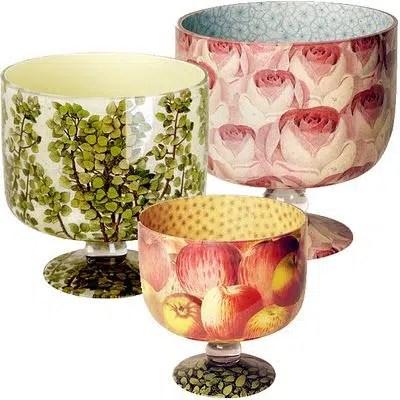 John Derian decoupage bowls