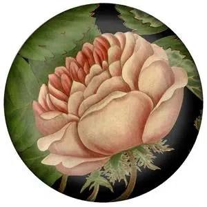 Marye Kelley decoupage flower paper weight