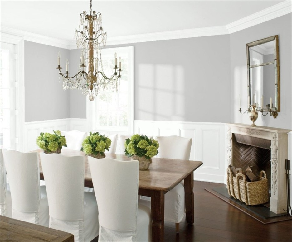 Ben Moore Metro Gray 1459 Dining Room