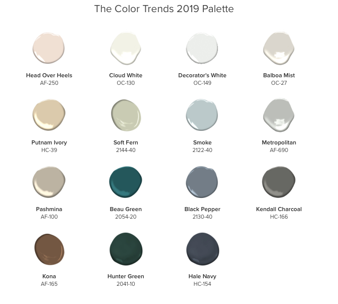 Color Trends 2019 Ben Moore 2018 Color of the Year COTY