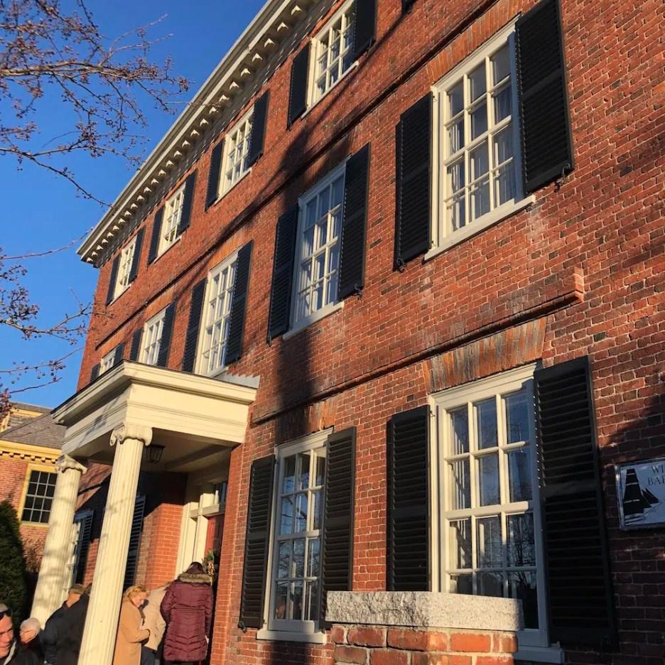 19 Federal Street brick exterior Christmas Holiday House Tour 2018